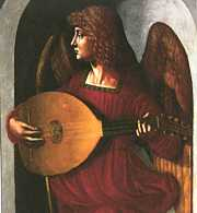 lute playing angel
