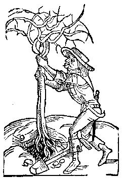 Medieval woodcut; a detail from Sarum Horae, published in Paris by Pigouchet for Jean Richard in 1494